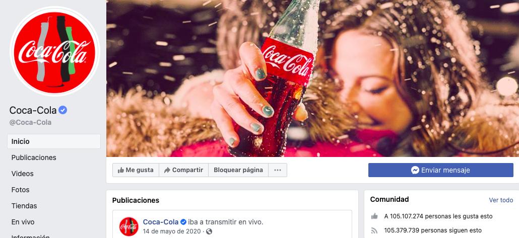 Fanpage Coca Cola