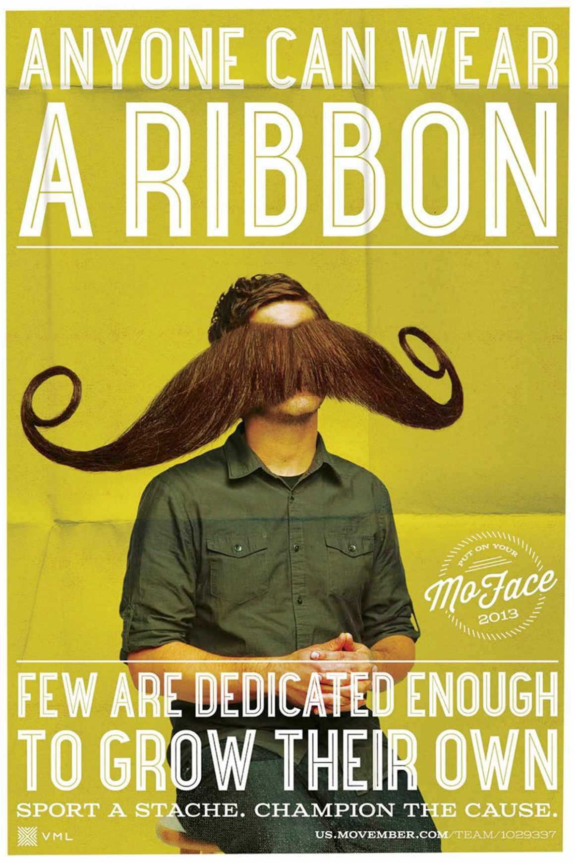 Anyone can wear a ribbon