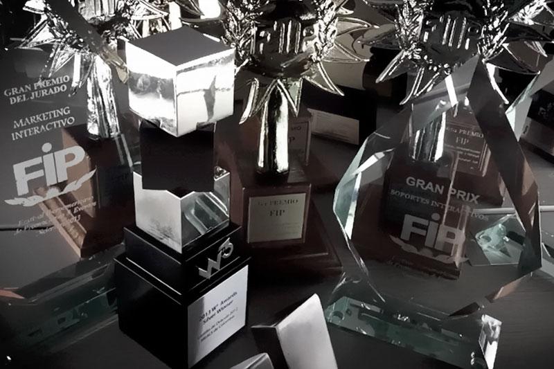 Premios Effie, Premio FIP, Premio W3, Premio Fepi, Premio el dorado. Todos ganados por Netbangers agencia de marketing digital